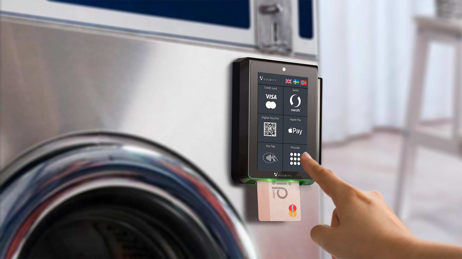 Vourity POS 3 On Laundry machine